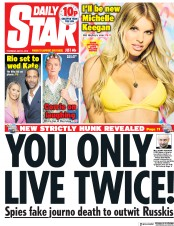Daily Star (UK) Newspaper Front Page for 31 May 2018