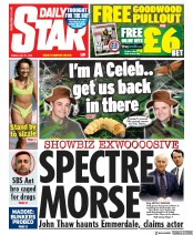 Daily Star front page for 31 July 2020
