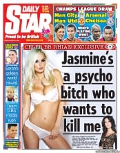 Daily Star Newspaper Front Page (UK) for 31 August 2012