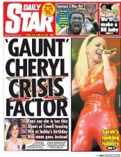 Daily Star (UK) Newspaper Front Page for 31 August 2015