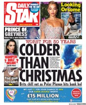 Daily Star (UK) Newspaper Front Page for 31 August 2020