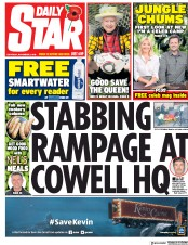 Daily Star (UK) Newspaper Front Page for 3 November 2018