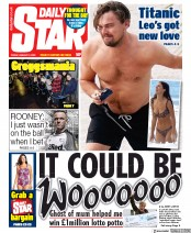 Daily Star (UK) Newspaper Front Page for 3 January 2020