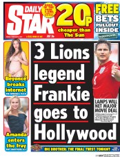 Daily Star (UK) Newspaper Front Page for 3 February 2017