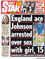 Daily Star (UK) Newspaper Front Page for 3 March 2015