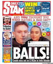 Daily Star front page for 3 March 2021