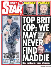 Daily Star (UK) Newspaper Front Page for 3 April 2018