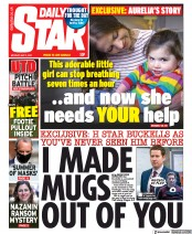 Daily Star front page for 3 May 2021