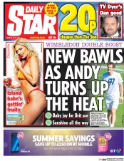 Daily Star (UK) Newspaper Front Page for 3 July 2017
