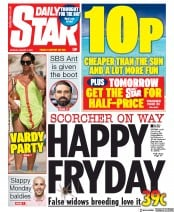 Daily Star front page for 3 August 2020
