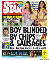 Daily Star (UK) Newspaper Front Page for 3 September 2019
