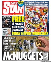 Daily Star () Newspaper Front Page for 4 December 2019