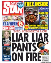 Daily Star front page for 4 January 2021