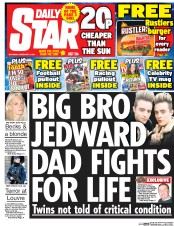 Daily Star (UK) Newspaper Front Page for 4 February 2017