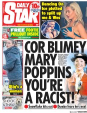 Daily Star () Newspaper Front Page for 4 February 2019