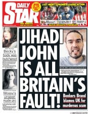 Daily Star (UK) Newspaper Front Page for 4 March 2015