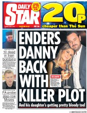 Daily Star (UK) Newspaper Front Page for 4 April 2017