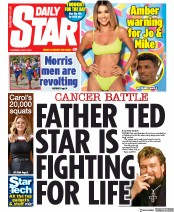 Daily Star (UK) Newspaper Front Page for 4 July 2019