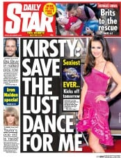 Daily Star (UK) Newspaper Front Page for 4 September 2015