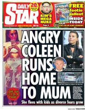 Daily Star (UK) Newspaper Front Page for 4 September 2017
