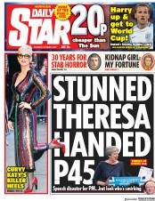 Daily Star (UK) Newspaper Front Page for 5 October 2017