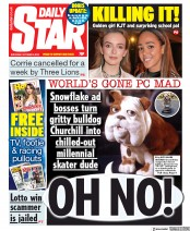Daily Star (UK) Newspaper Front Page for 5 October 2019