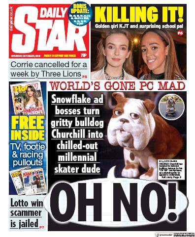 Daily Star Newspaper Front Page (UK) for 5 October 2019