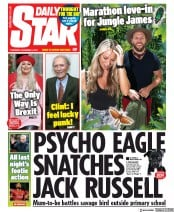 Daily Star () Newspaper Front Page for 5 December 2019