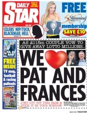 Daily Star (UK) Newspaper Front Page for 5 January 2019