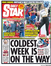 Daily Star (UK) Newspaper Front Page for 5 February 2018