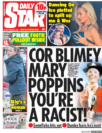 Daily Star Newspaper Front Page (UK) for 5 February 2019