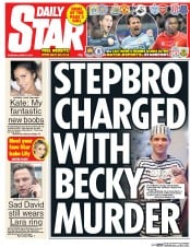 Daily Star (UK) Newspaper Front Page for 5 March 2015