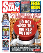 Daily Star front page for 5 March 2021