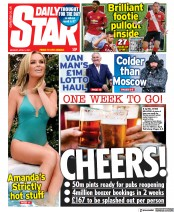 Daily Star (UK) Newspaper Front Page for 5 April 2021