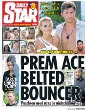 Daily Star (UK) Newspaper Front Page for 5 June 2018