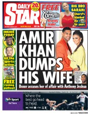 Daily Star (UK) Newspaper Front Page for 5 August 2017