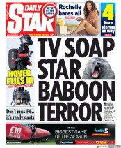 Daily Star (UK) Newspaper Front Page for 5 August 2019