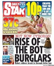 Daily Star front page for 5 August 2020