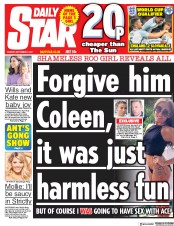 Daily Star (UK) Newspaper Front Page for 5 September 2017