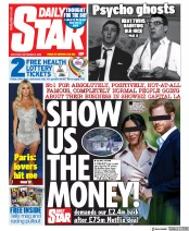 Daily Star front page for 5 September 2020