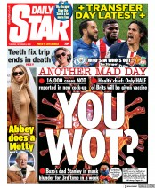 Daily Star front page for 6 October 2020