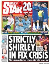 Daily Star (UK) Newspaper Front Page for 6 November 2017