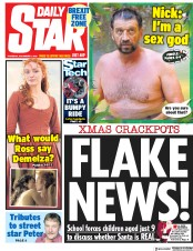 Daily Star (UK) Newspaper Front Page for 6 December 2018