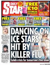 Daily Star (UK) Newspaper Front Page for 6 January 2018