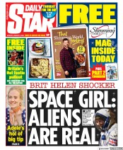 Daily Star (UK) Newspaper Front Page for 6 January 2020