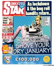 Daily Star front page for 6 January 2021