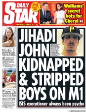 Daily Star (UK) Newspaper Front Page for 6 March 2015