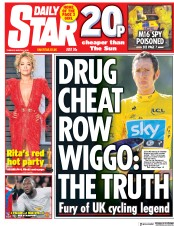 Daily Star (UK) Newspaper Front Page for 6 March 2018