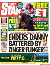 Daily Star () Newspaper Front Page for 6 April 2019