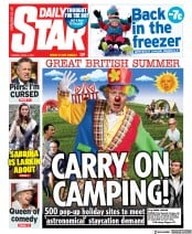 Daily Star (UK) Newspaper Front Page for 6 April 2021